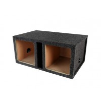 "PPA-10DVK: 10"" Double Square Ported Subwoofer Empty Box"