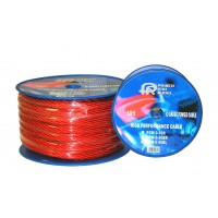 POWAL-00GA: 0GA 50FT Flexible Power Wire, Black,Blue&Red