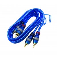 PPA06FTBL: 6FT RCA Cable 2 Male to 2 Male with Ground