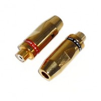 AG1009: 6mm GOLD RCA JACK, 2-Pack, RCA CONNECTOR​