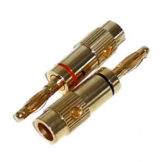 BG1002: GOLD BANANA CONNECTOR FOR 16GA to 10GA WIRE, 2-Pack