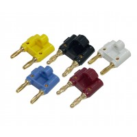 BG1013: GOLD BANANA CONNECTOR FOR 16GA to 10GA WIRE,-1Pc