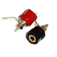 BG1019: GOLD BINDING POST CONNECTOR FOR 10GA to 12GA WIRE, 2-Pac