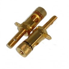 BG1022: GOLD BINDING POST CONNECTOR FOR 10GA to 12GA WIRE, 2-Pac