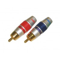 PAG1005: 8mm RCA CONNECTOR nickel plated, 4-Pack
