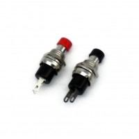 SW1018: PUSH ON TYPE SWITCH, Black or Red