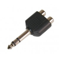 AC1056: 6.35 mm STEREO PLUG TO DOUBLE RCA JACK, CONNECTOR​
