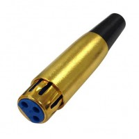 MC1004G: GOLD 3PIN FEMALE XLR CONNECTOR