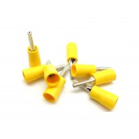 VPT5: Male Pin Crimp Terminal Stud Size 1/8 (100/bag)