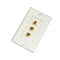 AV111G: Triple F-81 decora wall plate