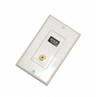 CAT-HD1F: 1*HDMI F + 1*F81 F decora wall plate