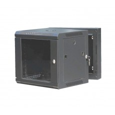 CAT100UD-06UBK: 6U Rear-Hinged Wall Mountable Cabinet Networking