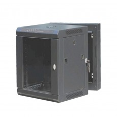 CAT100UD-09UBK: 9U Rear-Hinged Wall Mountable Cabinet Networking
