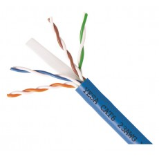 CAT6-1000: 100% COPPER, SOLID 23AWGx4C UTP CABLE 1000FT,3 colour
