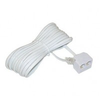 TC6017-15: Splitter with 15FT TEL Line Extension cord, White