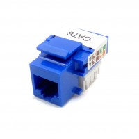 CAT-600EP: Punch Down Type CAT-6 Keystone Jack (Blue, White)