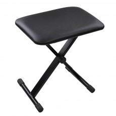 PS-040: Piano Keyboard Bench Leather Seat | Black