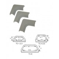 TC-5L: L Shape PVC Wiring Duct CSA Approval , Gray, 20/Pack