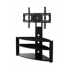 PPA-039: 37'' To 60'' 3 Glass Shelves Floor Stand for TVs