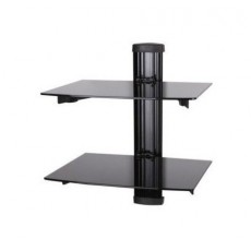PPA-049-02: Double Glass Shelf DVD Wall Mount