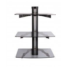 PPA-049-03: Triple Glass Shelf DVD Wall Mount