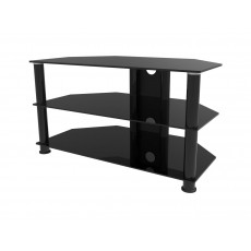 PPA-050: 50'' 3 Glass Shelves Hi-Fi Floor Stand For TVs