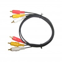 CA1065: 3FT TO 25FT, GOLD A/V CABLE, 3 RCA TO 3 RCA